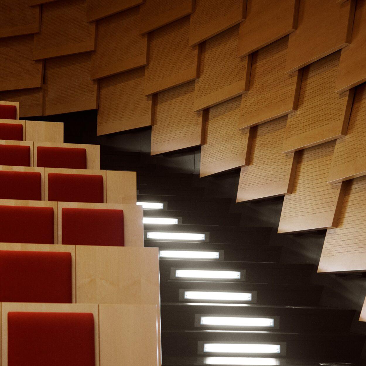 Auditorium i HUBNORDIC af KLP Ejendomme